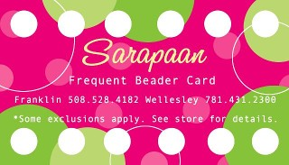 Frequent Beader Card